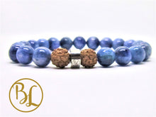 Load image into Gallery viewer, Natural  Kyanite Mala Blue Gemstone Bracelet Kyanite Mala Throat Chakra Mala Meditation Yoga Healing Aligns Aura Bracelet Spiritual Mala