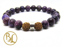 Load image into Gallery viewer, Natural  Lepidolite Bracelet Purple Stone Mala All Chakra Bracelet Lepidolite Healing Bracelet