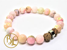 Load image into Gallery viewer, Natural  Pink Opal Bracelet Pink Bracelet Pink Opal Heart Chakra Bracelet Pink Opal Good Luck
