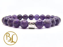 Load image into Gallery viewer, Natural  Amethyst Bracelet Bodhi Lotus Designer 925 Charm Bracelet Purple Bracelet Bodhi Lotus