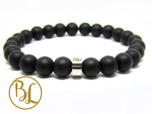 Load image into Gallery viewer, Natural  Black Frost Onyx Bracelet Black Frost Onyx Gemstone Yoga Mala Black Onyx Bracelet