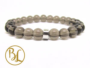 Natural  Smoky Quartz Bracelet Smoky Quartz Bracelet Smoky Quartz Mala Bracelet Yoga Meditation