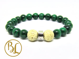 Natural  Malachite Bracelet Green Stone Bracelet Malachite Gemstone Mala Bracelet Malachite