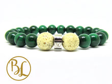 Load image into Gallery viewer, Natural  Malachite Bracelet Green Stone Bracelet Malachite Gemstone Mala Bracelet Malachite