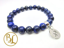 Load image into Gallery viewer, Natural Lapis Lazuli CHOOSE YOUR CHARM Bracelet Lapis Lazul Charm Bracelet Lapis Lazuli Third