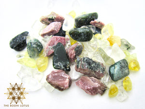 PROSPERITY Eau De Gemme Ruby Citrine Moss Agate Gemstones Elixir Water Bottle Prosperity Stones