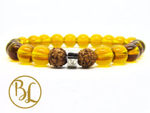 Load image into Gallery viewer, Genuine Golden Quartz Bracelet Yellow Manipura Bracelet Golden Quartz Yoga Meditation Bracelet