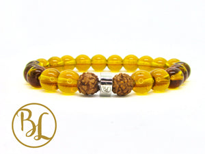 Genuine Golden Quartz Bracelet Yellow Manipura Bracelet Golden Quartz Yoga Meditation Bracelet