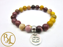 Load image into Gallery viewer, Cancer Sign Bracelet CHOOSE your CANCER GEMSTONE  Cancer Horoscope Gemstone Bracelet Mala