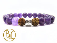 Load image into Gallery viewer, Natural   Amethyst Bracelet Amethyst Chakra Bracelet Purple Gemstone Yoga Bracelet Minimalist