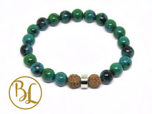 Load image into Gallery viewer, Genuine Chrysocolla Bracelet Blue Green Bracelet Chrysocolla Gemstone Yoga Bracelet Chrysocolla