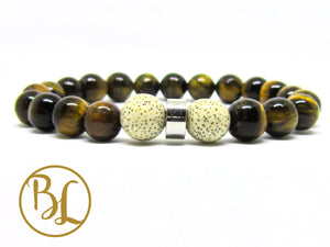 Natural  Tiger Eye Bracelet Tiger Eye Chakra Bracelet Gemstone Tiger Eye Mala Brown Stone Mala