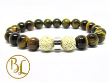 Load image into Gallery viewer, Natural  Tiger Eye Bracelet Tiger Eye Chakra Bracelet Gemstone Tiger Eye Mala Brown Stone Mala