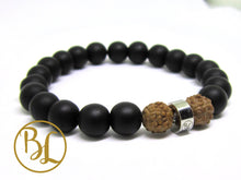 Load image into Gallery viewer, Natural  Black Frost Onyx Bracelet Black Frost Onyx Gemstone Mala Black Onyx Bracelet Black