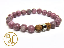 Load image into Gallery viewer, Natural  Pink Tourmaline Bracelet Heart Chakra Bracelet Pink Bracelet Pink Tourmaline Bracelet