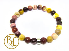 Load image into Gallery viewer, Genuine  Mookaite 316 Stainless Steel Mala Multicolor Mookaite Bracelet Gemstone Mookaite Mala
