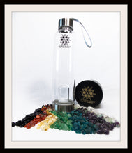 Load image into Gallery viewer, PROSPERITY Eau De Gemme Ruby Citrine Moss Agate Gemstones Elixir Water Bottle Prosperity Stones