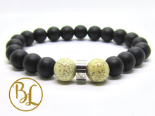 Load image into Gallery viewer, Genuine Black Frost Onyx Bracelet Black Frost Onyx Gemstone Mala Black Onyx Bracelet Black Mala