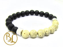 Load image into Gallery viewer, Natural  Black Frost Lotus Seed 925 Onyx Bracelet Black Frost Onyx Gemstone Mala Black Onyx
