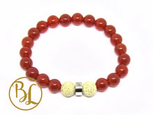 Load image into Gallery viewer, Natural  Carnelian Bracelet Orange Gemstone Bracelet Carnelian Gemstone Yoga Mala Bracelet