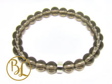 Load image into Gallery viewer, Natural  Smoky Quartz Bracelet Smoky Quartz Bracelet Smoky Quartz Mala Bracelet Yoga Meditation