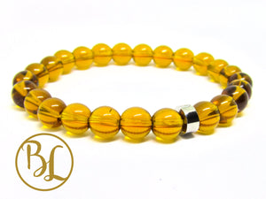 Natural  Golden Quartz Bracelet Yellow Manipura Bracelet Golden Quartz Yoga Meditation Bracelet Golden Quartz Healing Mala Minimalist