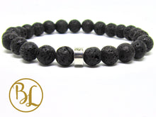 Load image into Gallery viewer, Natural  Volcano Lava Bracelet Crown Chakra Bracelet Lava Rock Bracelet Lava Rock Creativity