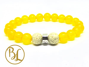 Genuine Yellow Jade Bracelet Yellow Bracelet Manipura Bracelet Yellow Jade Bracelet Yellow Jade