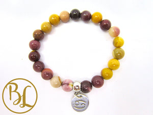 Cancer Sign Bracelet CHOOSE your CANCER GEMSTONE  Cancer Horoscope Gemstone Bracelet Mala