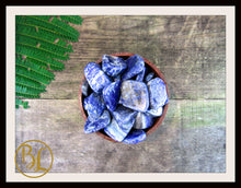 Load image into Gallery viewer, LAPIS LAZULI Gemstone 3 Piece Set Healing Lapis Lazuli Crystals  Intention Lithiotherapy