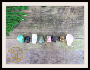 ANXIETY Gemstone Kit 8 Healing Anxiety Healing Crystals Healing Anxiety Intention Lithiotherapy
