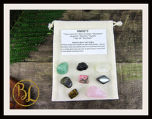 Load image into Gallery viewer, ANXIETY Gemstone Kit 8 Healing Anxiety Healing Crystals Healing Anxiety Intention Lithiotherapy