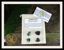 Load image into Gallery viewer, COMMON COLD Gemstone Kit 4 Healing Common Cold Crystals Common Cold Intention Lithiotherapy
