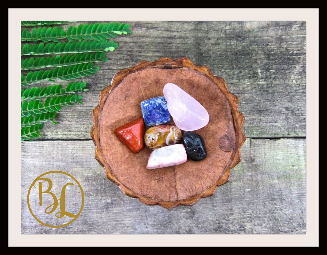 MULTIPLE SCLEROSIS Gemstone Kit 6 Healing M S Crystal Set Healing Crystals Stones Lithiotherapy