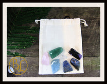 Load image into Gallery viewer, STRESS Gemstone Kit 8 Healing Stress Gemstone Healing Crystal Stress Intention Lithiotherapy