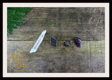 Load image into Gallery viewer, AQUARIUS Gemstone Kit 4  Zodiac Aquarius Set Healing Crystals Aquarius Intention Lithiotherapy