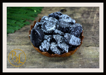 Load image into Gallery viewer, SNOWFLAKE OBSIDIAN Gemstone 3 Piece Set Snowflake Obsidian Crystal Set Intention Lithiotherapy
