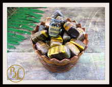 Load image into Gallery viewer, TIGER EYE Gemstone 3 Piece Set Healing Tiger Eye Crystal Kit Tiger Eye Intention Stones