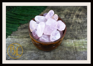 ROSE QUARTZ Gemstone 3Piece Set Healing Rose Quartz Crystal Rose Quartz Intention Lithiotherapy