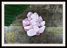 Load image into Gallery viewer, ROSE QUARTZ Gemstone 3Piece Set Healing Rose Quartz Crystal Rose Quartz Intention Lithiotherapy
