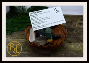 CAPRICORN Gemstone Kit 6 Zodiac Capricorn Healing Crystal Capricorn In