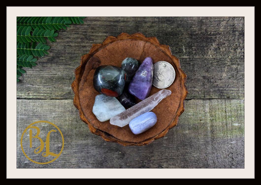PISCES Gemstone Kit 7 Zodiac Pisces Gemstones Set Crystals Pisces Intention Lithiotherapy