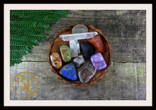 Load image into Gallery viewer, SCORPIO Gemstone Kit 10 Zodiac Scorpio Gemstone Healing Crystal Scorpio Intention Lithiotherapy