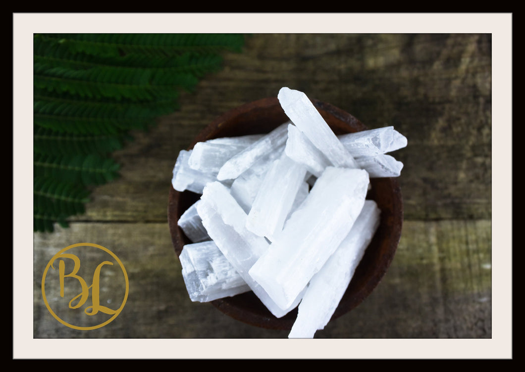 SELENITE Gemstone 3 Piece Set Healing Selenite Crystal Kit Selenite Intention Set Lithiotherapy
