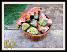 Load image into Gallery viewer, UNAKITE Gemstone 3 Piece Set Healing Unakite Crystal Kit Unakite Intention Stones Set