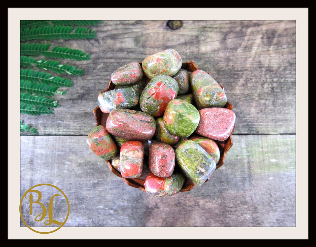 UNAKITE Gemstone 3 Piece Set Healing Unakite Crystal Kit Unakite Intention Stones Set