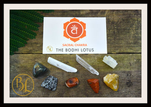 SACRAL CHAKRA Gemstone Kit 8 Healing Sacral Chakra Stones  Crystals Set Intention Lithiotherapy