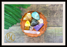 Load image into Gallery viewer, SOLAR PLEXUS CHAKRA Gemstone Kit 8 Healing Solar Plexus Chakra Crystals Intention Lithiotherapy