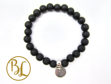 Black Onyx CHOOSE YOUR CHARM Bracelet Black Onyx Mala Base Chakra Charm Bracelet Meditation