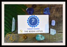 Load image into Gallery viewer, THROAT CHAKRA Gemstone 7 Kit  Healing Throat Chakra Crystal Set Intention Lithiotherapy